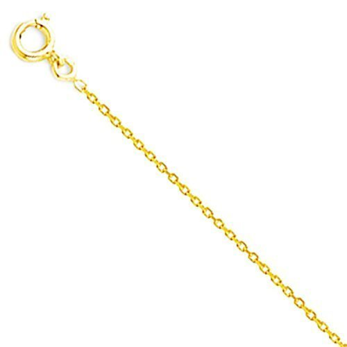 18 Karat / 750 Gold Rund Ankerkette Massiv Breite 0.9 mm Gelbgold Kette - Länge wählbar (40 CM)