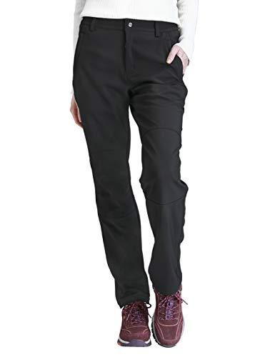 CAMEL CROWN Mujer Pantalones de Softshell Impermeables con Forro Polar, A Prueba de Viento Pantalón de Senderismo, Pantalones para Esquí Snowboard Montaña Escalada Trekking Trabajo Otoño Invierno