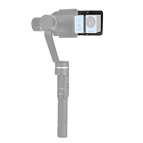 Placa De Montaje Adaptador para Cámara de Acción Deportiva Placa De Sujeción Gimble Estabilizadora De Mano para GoPro Hero 6/5/4/3 + para YI 4K SJCAM para OSMO Mobile 2 Zhiyun Smooth 4 Feiyu SPG2