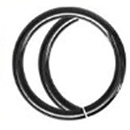 Aiasiry Anillo de Nariz de aro, Accesorios de perforación de Anillo de Nariz de Luna Simple para Mujeres y niñas (Negro)