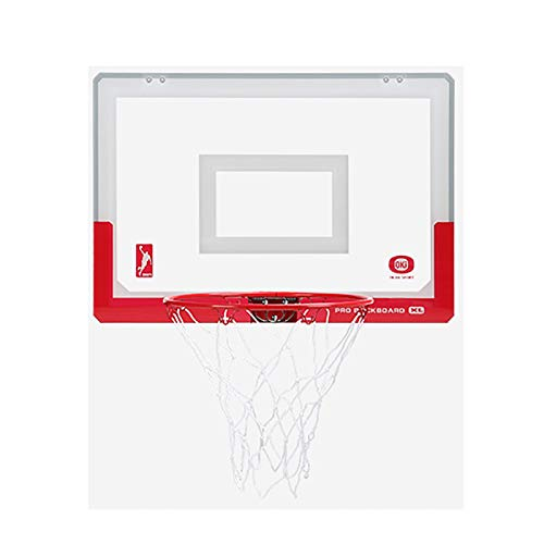 Basketball Hoop for Kids Set Faltbare Kinder Basketball-Reifen tragbar auf Tür & Wand, tragbare Teenager-Backboard-Übung Sport Gaming Indoor Active Play-Geschenke ( Color : RED , Size : 30CM HOOP )