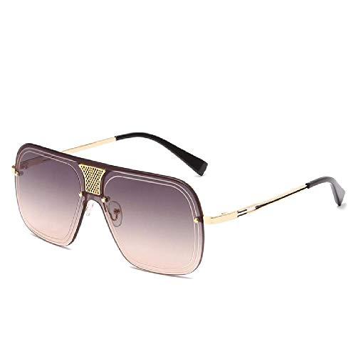 U/A 2 Pcs Gafas De Sol Sin Montura Mujeres Hombres Gafas De Sol De Metal Gafas De Sol Vintage UV400 Sombras