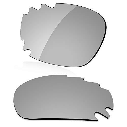 LenzReborn Polarisierte Linse Ersatz für Oakley Jawbone Vented Sonnenbrille – mehr Optionen Gr. Einheitsgröße, Silbernes Titan – polarisiert, verspiegelt