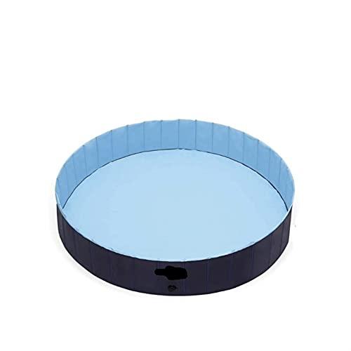AZCX Faltbarer Hund Schwimmbad, mit eingebauter Entwässerungsloch, Haustierhundkatze Badewanne Indoor Outdoor-Welpen-Pool, Hunde Paddeln Pool im Gartengarten