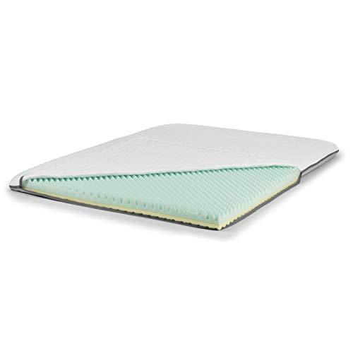 VITALmaxx Matratzen-Topper Comfort | beidseitig verwendbar, 2 Härtegrade | 140 x 200 cm [weiß|grau]