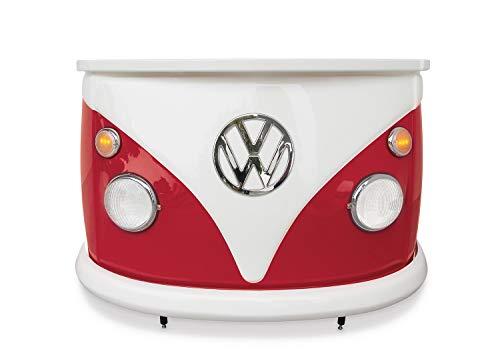 BRISA VW Collection Volkswagen Bar Theke der VW Bus T1 Front in Originalgröße 168x110x65 cm (Rot/Weiß)