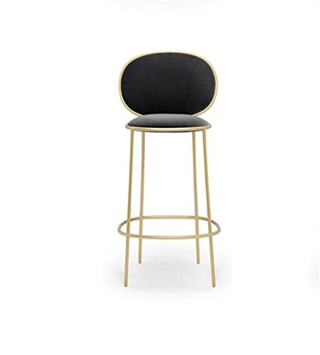 Elegenz-Z stoel Nordic Iron Bar Home High Coffee Shop persoonlijkheid van metaal eenvoudig en modern stof rugleuning comfortabel, drievoudig