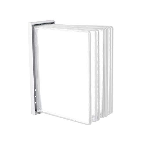 Leviatan Wand-Sichttafelsystem Wandhalterung für Sichttafeln Tafelsystem aus Metall zum Anschrauben an die Wand, Im Lager, in der Werkstatt, im Geschäft, im Labor + 10 weisse Sichttafeln