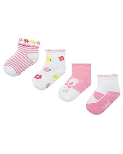 Mayoral Newborn - Juego de 4 calcetines para bebé 072 Flor 6 Meses