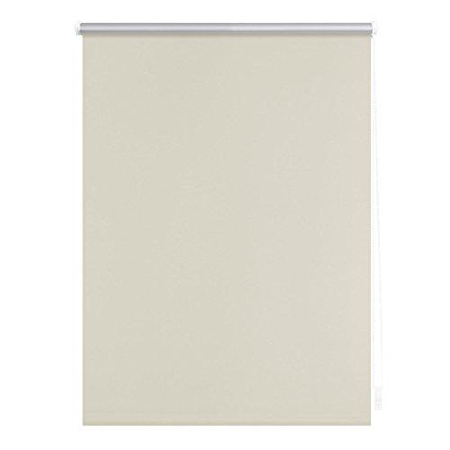 Lichtblick Verdunklungsrollo Klemmfix, 80 cm x 150 cm (B x L) in Creme, ohne Bohren, Sonnen-, Sicht-, Hitze- & Kälte-Schutz, reflektierende Thermo-Rollo Funktion, Verdunkelung für Fenster & Türen