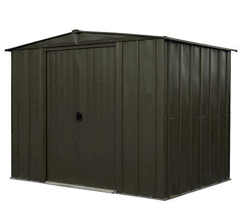 Spacemaker Metallgerätehaus, Metallgerätehaus, Gartenhaus Boden aus Metall 8x6 Onyx schwarz, 254x181x201 cm (BxTxH)