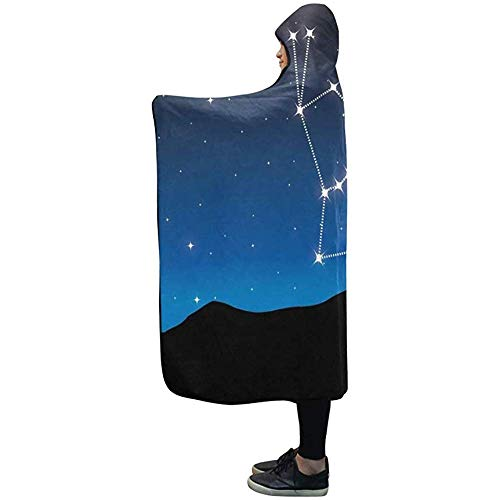 Henry Anthony 60X50 Zoll Decke mit Kapuze Constellation Orion Blanket Comfotable Hooded Throw Wrap