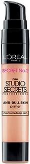 L'Oreal Paris Studio Secrets Professional Color Correcting Anti-Dull Skin Primer, Medium/Deep Skin, 0.68-Fluid Ounce