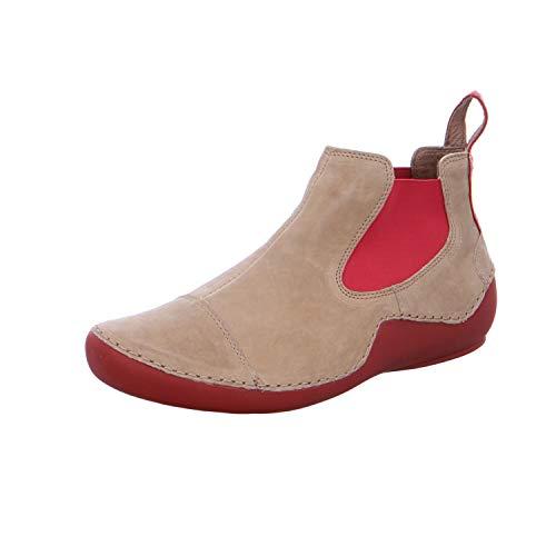 THINK! Kapsl_484069, Zapatillas sin Cordones para Mujer, Beige (Macchiato/Kombi 25), 41.5 EU