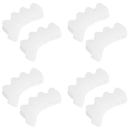 Separador De Dedos De 4 Pares Gel De Sílice Separador De Dedos De 2 Dedos Herramienta Ortopédica para Aliviar El Dolor De Juanetes De Corrección Tamaño Medio