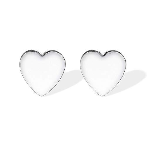 Boma Jewelry Sterling Silver Heart Stud Earrings