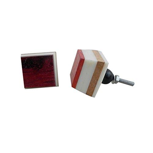 Indianshelf faite à la main 14 pièces en bois multicolores Boutons de tiroir/Commode (Wrk-56)