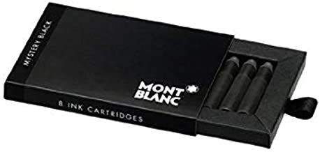 Montblanc Mystery Black Fountain Pen Ink Cartridges 8 per package (Pack of 2)