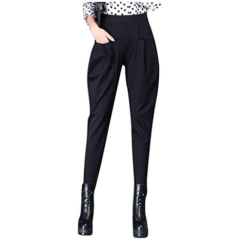 PIKAqiu33 Women High Waist Casual Slim Trouser Suit Pants Large Size Spring and Summer, for Christmas New Year (Black-4XL)