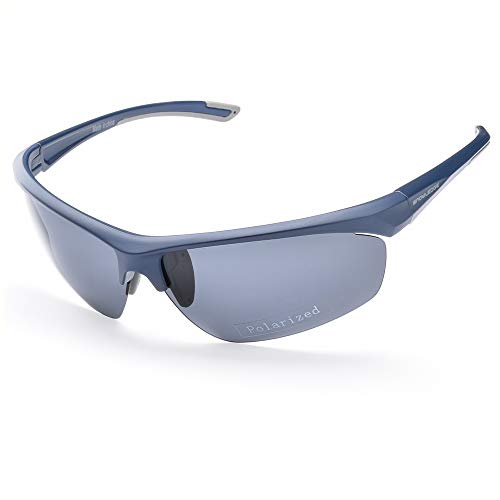 HUBO SPORTS Sports Sunglasses for Men Women,UV400 Protection Cycling Glasses with Hard Case for Driving Cycling Golf Fishing Running Sailing Skiing