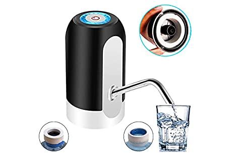 ASMARPA Dispensador de Agua Eléctrico,Bomba Agua embotellada,con Adaptador Universal, Dispensador automatico de Agua, Dispositivo Universal USB,Camping, Oficina, Hogar,Bomba Suministro