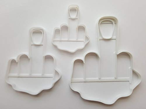 Set mit 3 – Mittelfinger Form Emoji Ausstechformen (Teig / Fondant / Keks / Gebäck / Scharf / Ausstechformen)