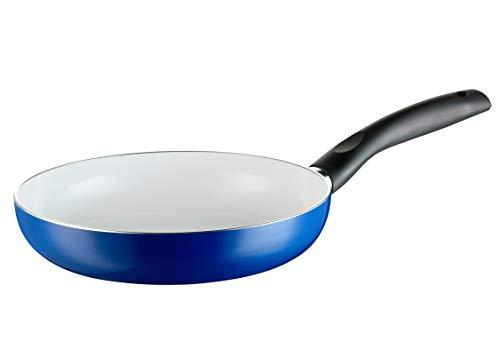 Keramik-Pfanne MÄSER Harriot 24 cm, Bratpfanne mit 2-lagiger Antihaft-Beschichtung aus ILAG CERAMIC, induktionsgeeignet, blau