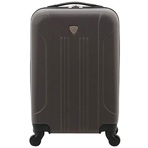 Travelers Club Chicago Hardside Expandable Spinner Luggage, Charcoal, Carry-On 20-Inch