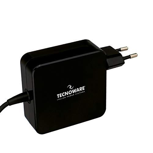 Tecnoware Alimentatore Universale USB Type-C da 65 W - Compatibile con Notebook Dotati di Porta USB C (Macbook Pro Air, Asus, Lenovo Thinkpad e Yoga, Samsung, Huawei, Xiaomi Air) - Cavo 210 cm