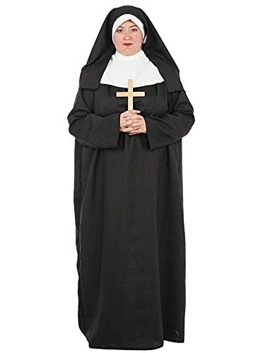 DISBACANAL Disfraz de Monja Adulto - M