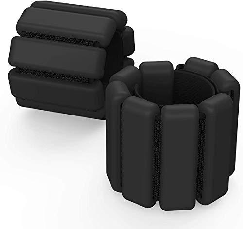 Fypxd Handgelenkgewichte verstellbar Knöchel Gewichte Set Knöchel Handgelenk Gewicht Armband Ring Fupxd Gewicht Lager Fitness Armband (schwarz, 0,9 kg (als Paar verkauft)