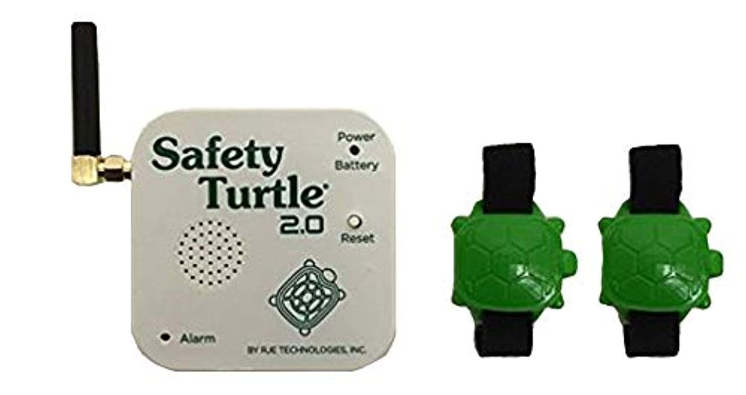 New Safety Turtle 2.0 Pet Immersion Pool/Water Alarm Kit - 2 Petbands