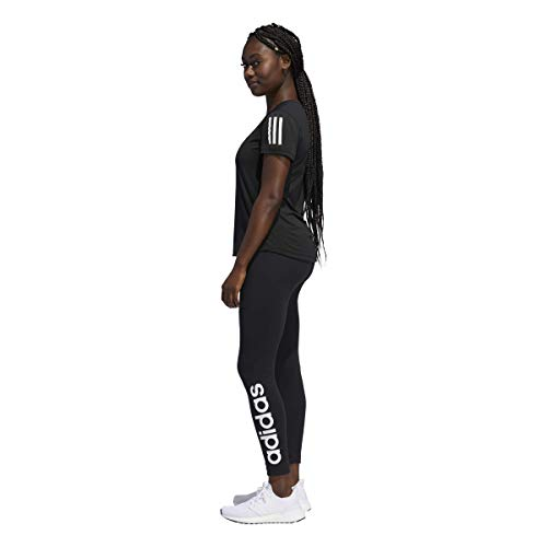 adidas Originals Women's Essentials Linear Tights, Black/White, Medium