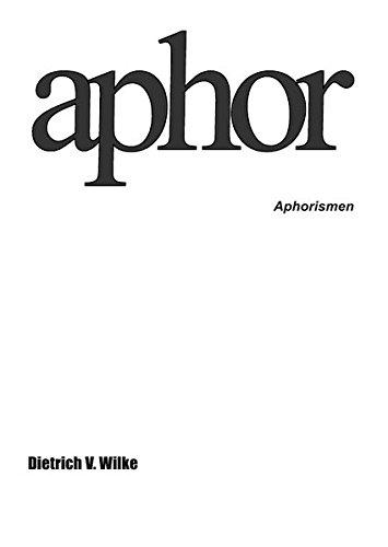 Aphor: Aphorismen