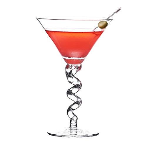 Verres Margarita Cup Martini Cup Verre À Cocktail Verre Personnalité Bar Coupe Set Champagne (Color : Clear, Size : R)