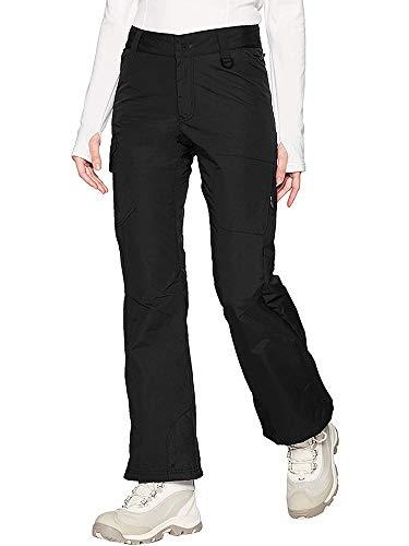 Jessie Kidden Women's Mountain Snowboard Cargo Pants Waterproof Windproof Fleece Insulated Ski Pants #2183-Black,34