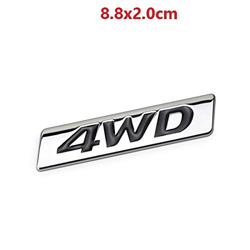 Csfssd Personality Standard Allradantrieb 4WD Fahrzeuganhänger Fahrzeugkarosserie Aufkleber Aufschrift Metall-Logo Buchstaben einfügen (Color : 1)