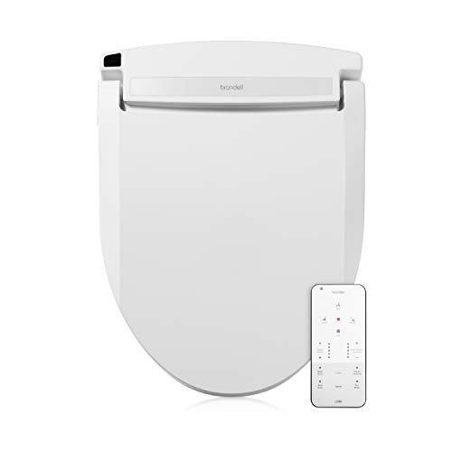 Brondell LE99 Swash Electronic Bidet Seat LE99, Fits Round Toilets, White – Lite-Touch Remote, Warm Air Dryer, Strong Wash Mode, Stainless-Steel Nozzle, Saved User Settings & Easy Installation, LE99