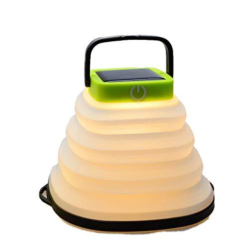 Malpyqb buitenverlichting op zonne-energie, draagbaar, voor camping, intrekbaar licht, om op te hangen, draagbaar, USB, opvouwbaar, oplaadbaar