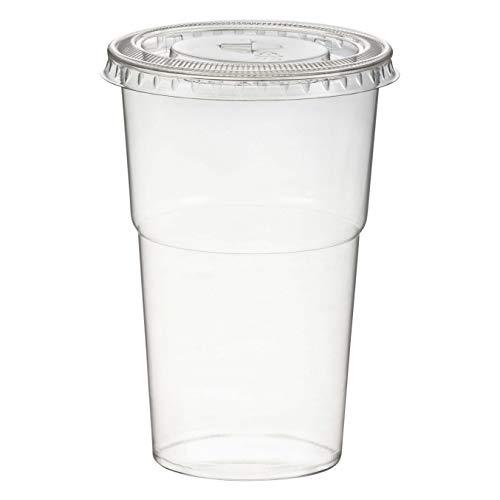 1-PACK Smoothiesbecher inkl. Deckel mit Schlitz 300 ml, Ø 78mm, PET, glasklar, 50 Stück