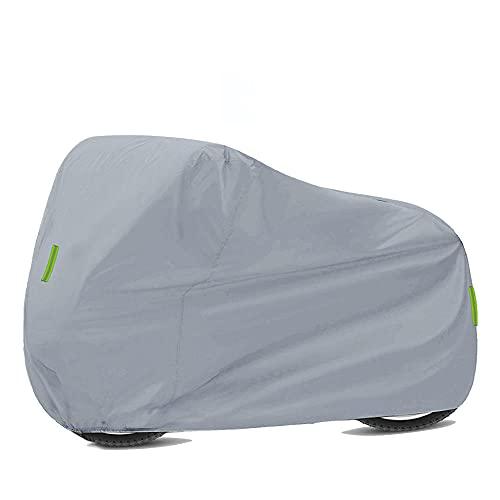Moto Impermeable Universal Motorcycle Funds Protección Impermeable Polvo 210D Paño Oxford para Honda Suzuki Kawasaki-Plata XXXXL