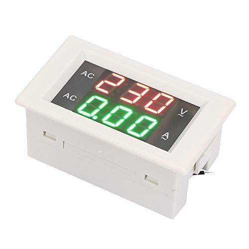 YB4835VA - Voltímetro digital con pantalla LED dual (60-300 V, CA, voltímetro, amperímetro rojo, verde, 0-50 A)