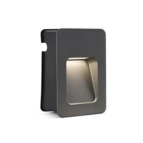 Faro Barcelona 70399 Neuslamp, inclusief ledverlichting, 3 W, aluminium behuizing en diffuser, transparant, grijs