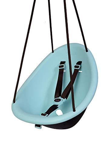 Swurfer Kiwi - Your Child's First Swing with Ergonomic Foam-Lined Shell Design, Blister Free Rope and 3-Point Safety Harness, Ages 9 Months and Up (Blue2)