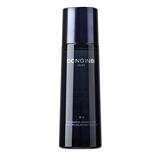 Korean Ginseng Face Toner for Men by DONGINBI – Homme Power Facial Toning Antioxidant Skincare Moisturizer with Red Ginseng – Anti Wrinkle, Post Shave Korean Men's Skincare Face Toner (120ml)
