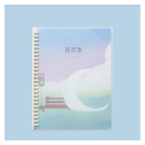 WANGYIYI 2pcs Cuadernos creativos B5 Cuaderno de Bobina extraíble Bloc de Notas Recargable Binder Design Diario de Cubierta Impermeable PP para niñas niños Adultos (Color : D)