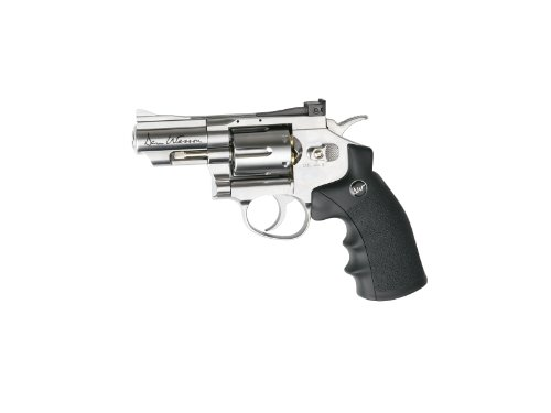 "Dan Wesson ASG 2.5"" CO2 Powered Air Revolver, Silver"