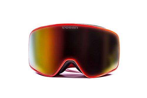 Ocean zonnebrillen - asen - masker - frame: rood - glazen: Revo rood (YH3806.1)