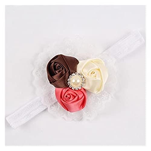子供用ヘアバンド 1PC新生児帽子キッズフラワーカチューシャピンクレースのヘアバンドは、女の子は花のスカーフ子供のヘアアクセサリーフェルト (Color : As picture 3)