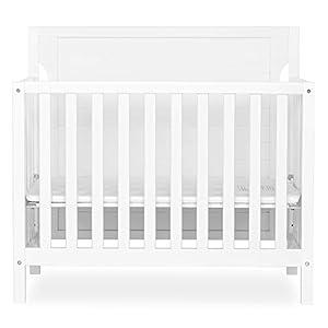 Dream On Me Bellport 4 in 1 Convertible Mini/Portable Crib, White